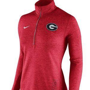 Nike Georgia Bulldogs Red Half Zip